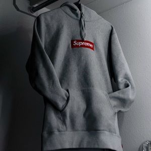 FW16 Heather Gray Supreme Box Logo